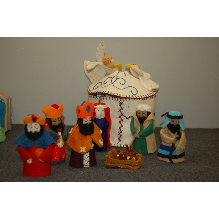 Felt Nativity With Yurt National Cathedral Store