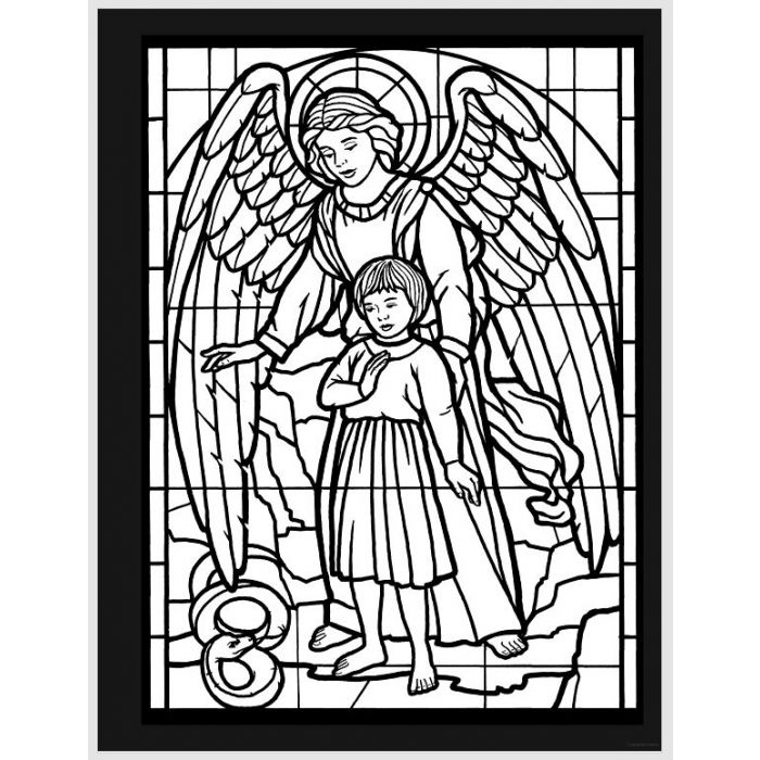 Amazing Angels Stained Glass Coloring Book