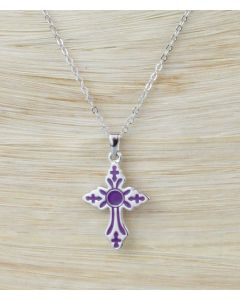 Solvar Enamel Purple Cross