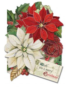 ''Christmas Poinsettia'' Boxed Holiday Cards