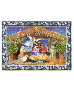 Watercolor Nativity Embellished Boxed Holiday Cards