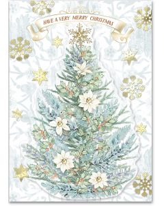 ''Merry Christmas Tree'' Embellished Christmas Cards