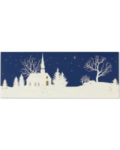 ''Silent Night'' Panoramic Boxed Christmas Cards