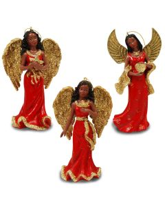 Angel in Red Dress Ornament