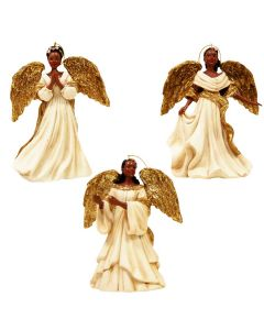 Angel in White Dress Ornament