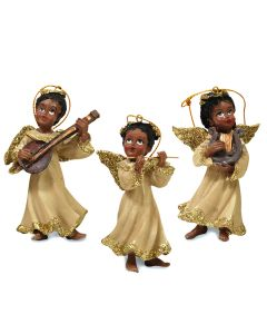 Angel with Instrument Ornament – 3 choices