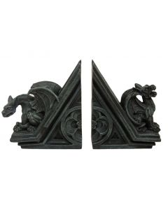 Rooftop Gargoyle Bookends