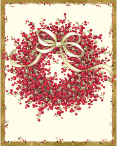 Pepperberry Wreath Christmas Cards
