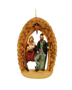 Holy Family under Star Archway Ornament