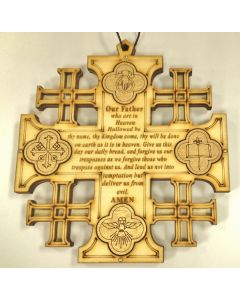 Olivewood Jerusalem Wall Cross