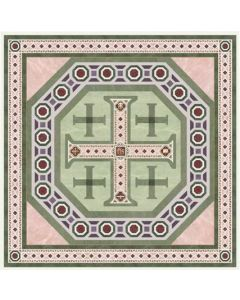 Jerusalem Cross Silk Twill Scarf