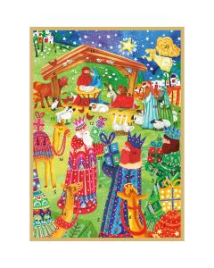 Nativity Advent Calendar Greeting Card