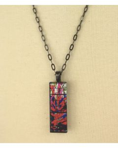 Passion Red Stained Glass Pendant