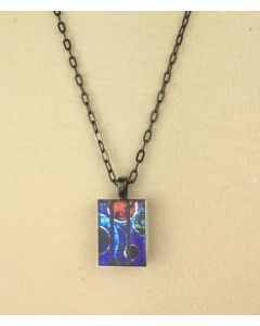 ''Space Window'' Stained Glass Pendant