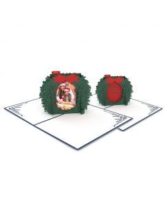Photo Wreath 3D Card