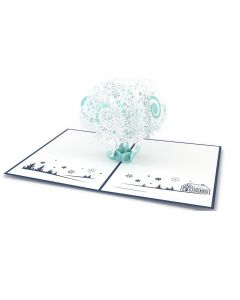 Snowflake Tree 3D card