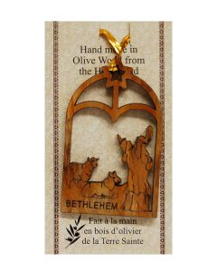 "Olive Wood ""Shepherd"" Ornament"