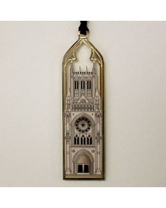 Cathedral Facade Metal Bookmark