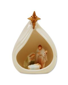 Porcelain Nativity with Star Ornament