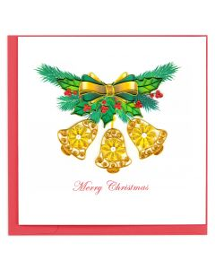 Gold Bells Quilling Card