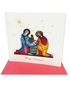Christmas Nativity Quilling Card
