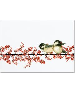 Berries and Chickadees Holiday Cards