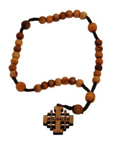 Olive Wood Anglican Rosary
