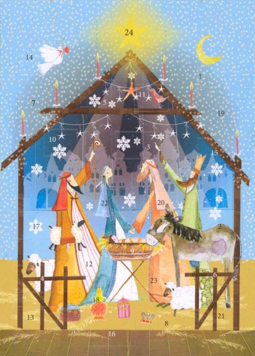 Christmas Nativity Advent Calendar Card Cathedral Store