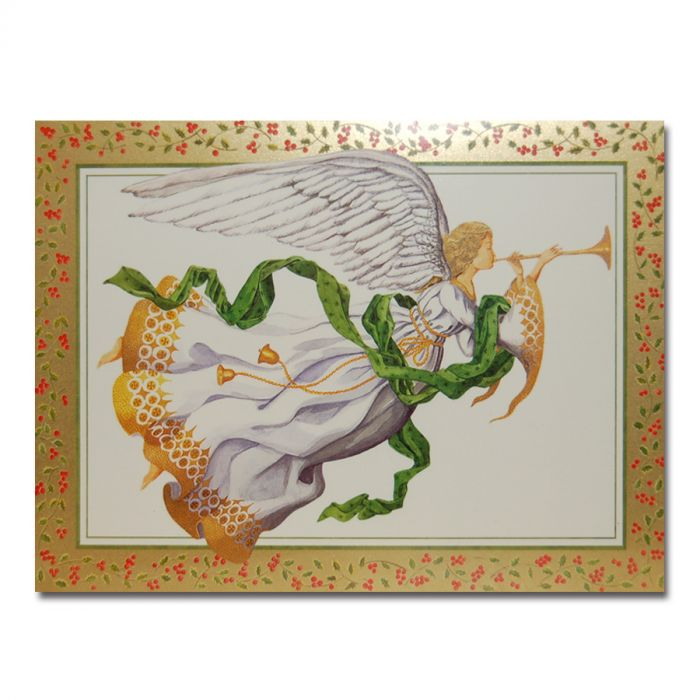 Trumpeting Angel Boxed Large Christmas Cards | Cathedral Store