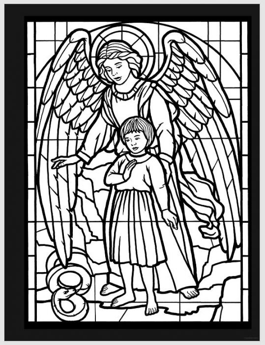 Amazing Angels Stained Glass Coloring Book | Cathedral Store